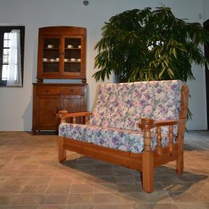 Sofa Zweisitzer Vienna aus Holz rustikal für Privathaushalte, Hotels, Ferienwohnungen, BandB Salotti e Soggiorni MI-5DVVIE2- 0